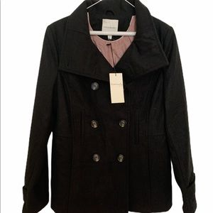 Thread and supply double breasted peacoat large